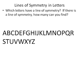 Lines of Symmetry in Letters
