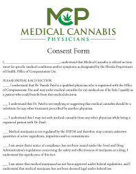 Cannabis Physicians Medical Of Florida Patient Forms