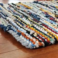 blue rag rug country t shirt utility yellow cream gray brown cottage chic farmhouse rectangle denim blue rag rug