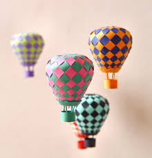 extraordinary creative diy paper art project colorful hot air balloon mobile homesthetics decor 6