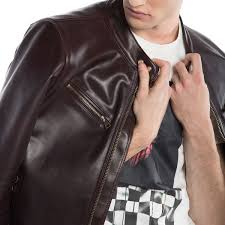 upon first glance the patina72 has a classic leather motorcycle jacket silhouette form fitting and minimalist in its design take a closer look and you ll