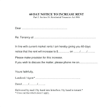 Rent Increase Form California Days Move Out Notice Sample Day Moving Landlord Template Free