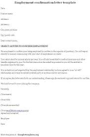 Job Letter From Employer Confirming Employment 40 Proof Of Employment Letters Verification Forms Samplesworking