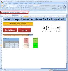 after you an excel program gauss elimination method from our web site and open it you ll find the following screen