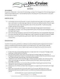 Bartender Resume Delectable Example Of Bartender Resume Cruise Ship Bartender Sample Resume