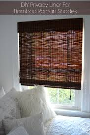 Roman Blind Diy Diy Privacy Liner For Bamboo Roman Shades More Bamboo Roman