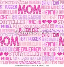 Word Backgrounds Mothers Day Seamless Word Pattern Backgrounds Stock Vector Royalty
