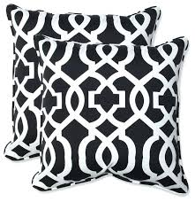 Navy Outdoor Cushions New And White Throw Pillow Set 2 Black
