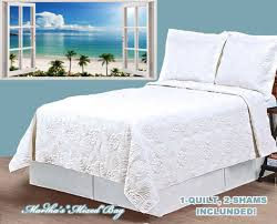 tropical paradise theme quilt twin