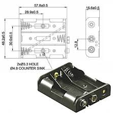 battery holder 2 3 4 mignon aa cable or snap terminal 9 volt battery holder 3 x mignon aa snap terminal 9 volt