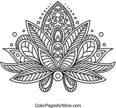Crafty Design Lotus Flower Coloring Pages Page Free Printable For