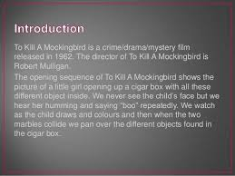 opening sequence analysis for to kill a mockingbird to