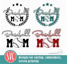 Baseball Mom 2 Designs Cutting File Graphic By Vector City Skyline Creative Fabrica