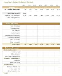 Business Expense Budget Template Excel Word Annual Business Budget