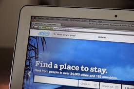 The Airbnb website is displayed on a laptop on April 21, 2014 in San Anselmo