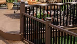 deck railing composite aluminum deck railing timbertech