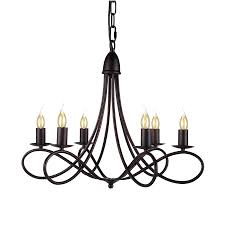 elegant lighting lyndon 24 in 6 light dark bronze terranean candle chandelier