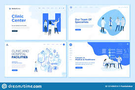 Web Page Design Templates Collection Of Healthcare Stock