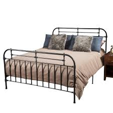 Noble House Charcoal Gray Iron Queen Victorian Bed Frame | Products ...