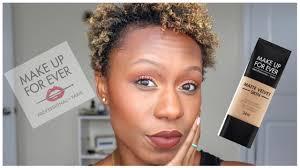 makeup forever matte velvet foundation y505 cognac demo review