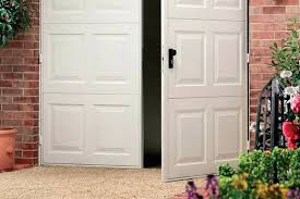 hinged garage doors metal side hinged garage door