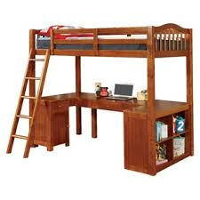 wood bunk bed with desk. Colony Twin Loft Bed Wood Bunk With Desk N