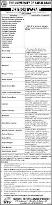 nts jobs in the university of faisalabad application form nts jobs in the university of faisalabad application form