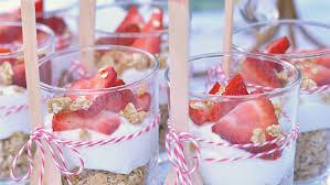 baby shower fruit and yogurt parfait