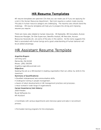 Sample Human Resources Cover Letters Resume For Human Resource To Human Resources Cover Letter