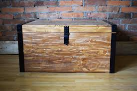 wooden chest wooden trunk coffee table