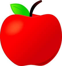red apple clipart. apple clipart image: shiny red for teacher l