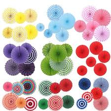 Tissue Paper Flower Decorations 6 Pcs Tissue Paper Fan Paper Flowers For Birthday Party Wedding