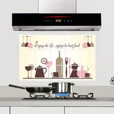 Mural Tiles For Kitchen Decor Wine Cup Bottle Kitchen Decor Oil Proof High temperature Resistant 46