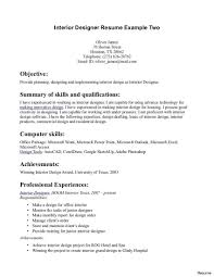Interior Design Resume Samples New Valid Interior Design Resume
