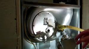Nordyne Gas Furnace Pilot Light Intertherm Nordyne M1mb Cleaning Hot Surface Igniter Youtube
