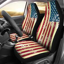 vintage style usa flag car seat covers