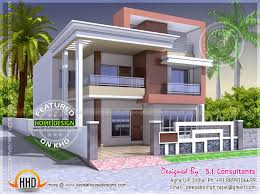 North Indian style flat roof house   floor plan   Kerala home    Design style   Modern Flat roof Indian house