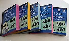 Prize Draw Tickets 4 X Books Of Cloakroom And Raffle Tickets 1 1000 Tombola Draw
