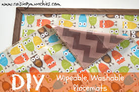 diy wipeable washable placemats  raising munchies