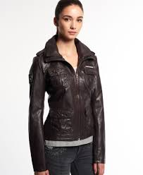 superdry faux leather roa jacket thumbnail 1