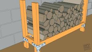 diy outdoor firewood rack log holder diy outdoor wood kayak rack