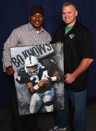 with bo jackson after having my painting signed rob jackson art behind the scenes