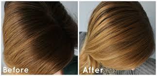 before and after diy hair lightening spray like john frieda go blonder spray the