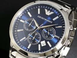 ar2448 emporio armani watches classic blue silver mens watch ar2448 was £394 80