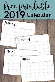 Desk Calendar Printable 2019 Calendar Printable Free Template Desk Calendars Free