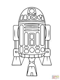 Astromech Droid R2 D2 Coloring Page Supercoloringcom