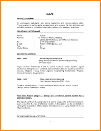 Simple Resume Sample Simple Resume Sample FutureofinfoMarketingus 91