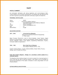 Simple Resume Sample Simple Resume Sample FutureofinfoMarketingus 91
