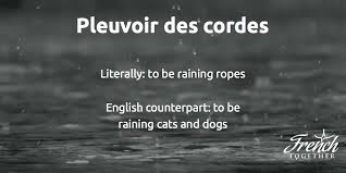 french idioms about the weather