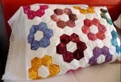 Grandmother's Flower Garden Quilted Pillowcases Part 2 ... & Grandmother's Flower Garden Quilted Pillowcases Adamdwight.com